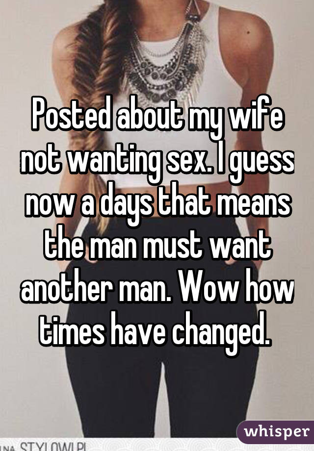 Wife has stopped wanting sex