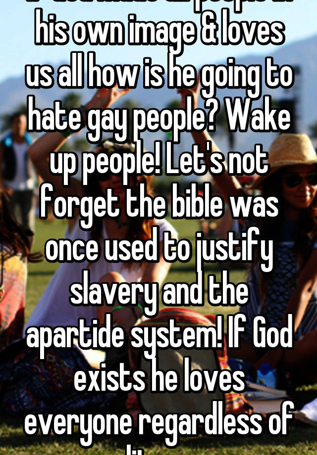Why god make gay people