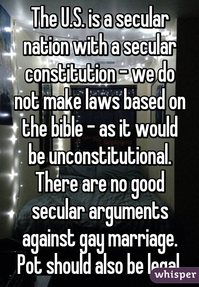 Constitutional arguments against gay marriage
