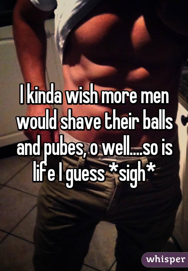 Men shaved pubes already far