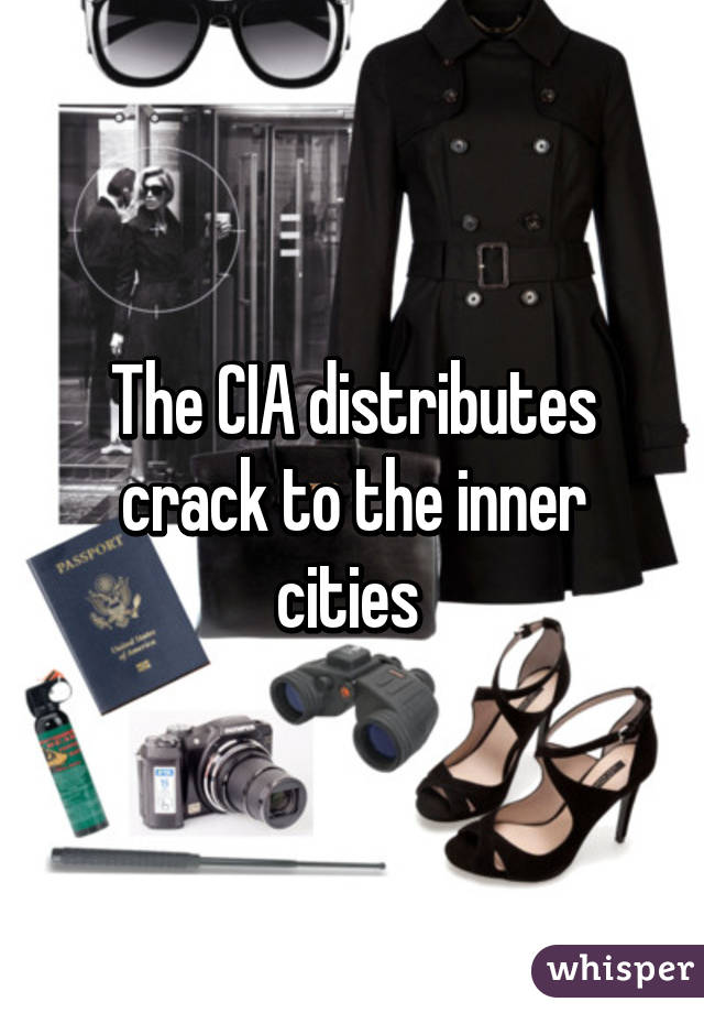 The CIA distributes crack to the inner cities