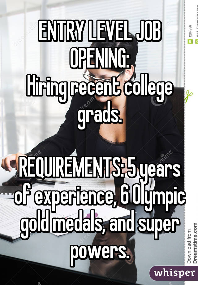 Entry Level Job Opening Hiring Recent College Grads Requirements