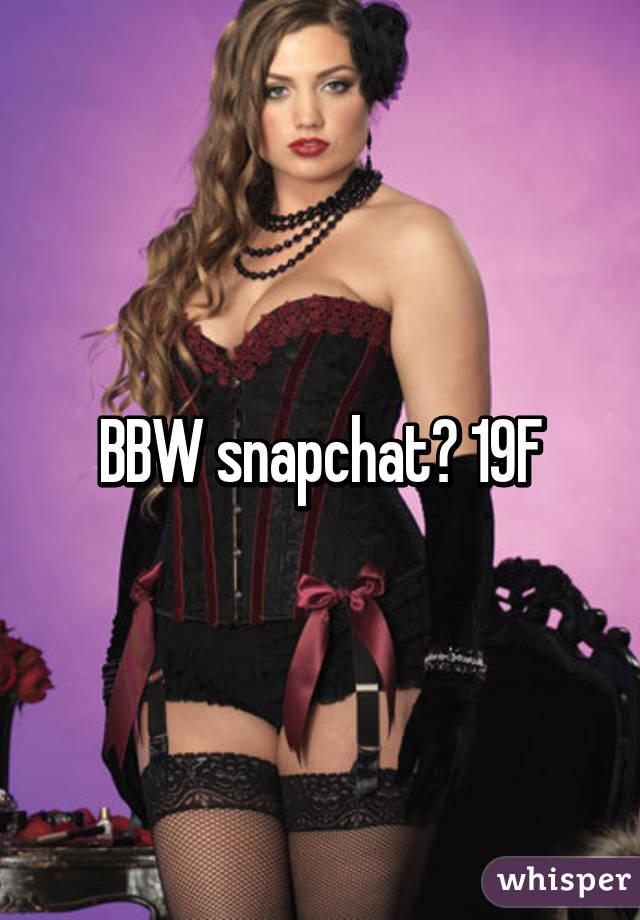 Bbw snapchat