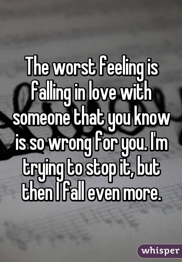 Feeling of falling in love