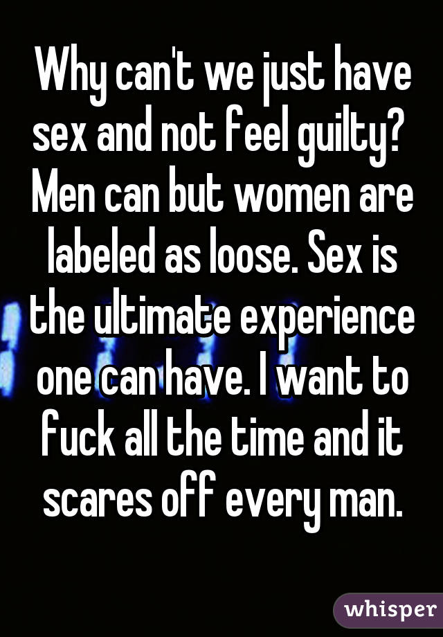 sex cant have men that