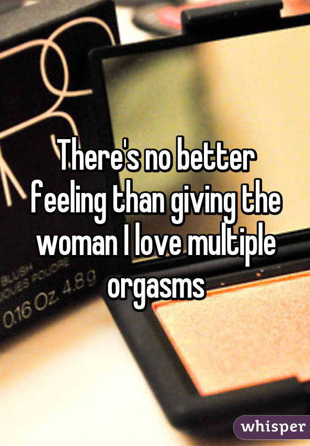 Giving a woman multiple orgasms