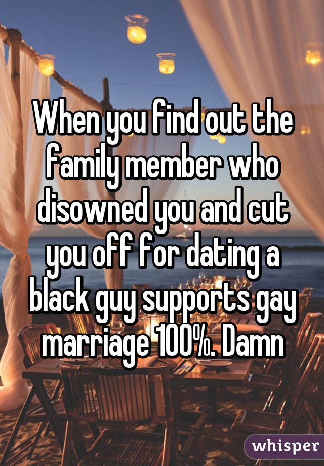 Dating a family member