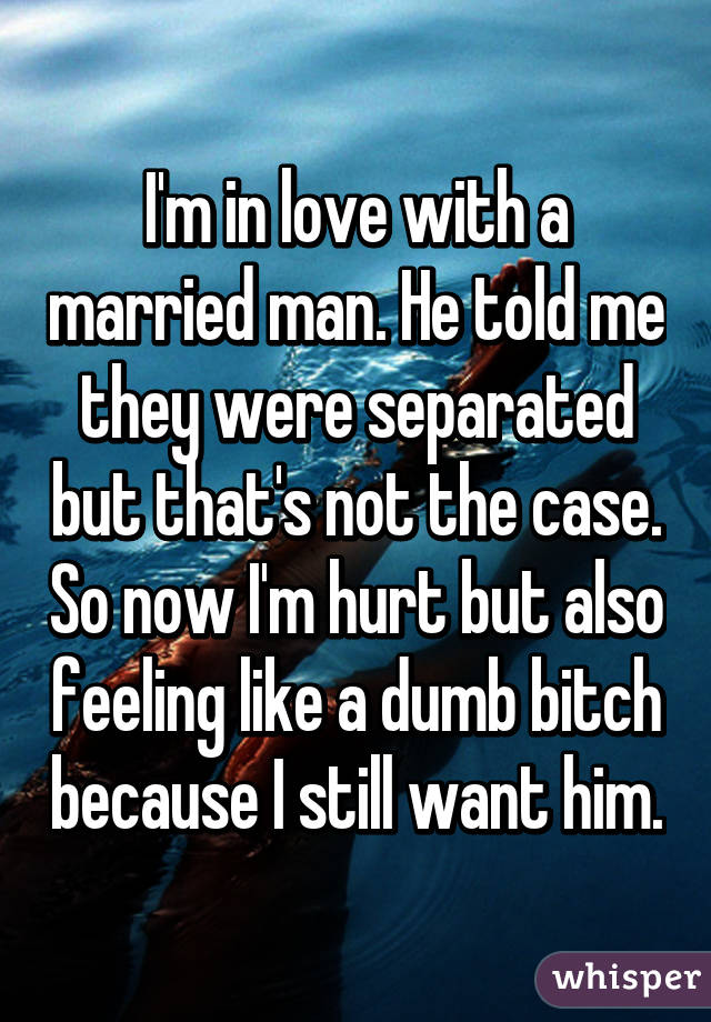a married man says he loves me