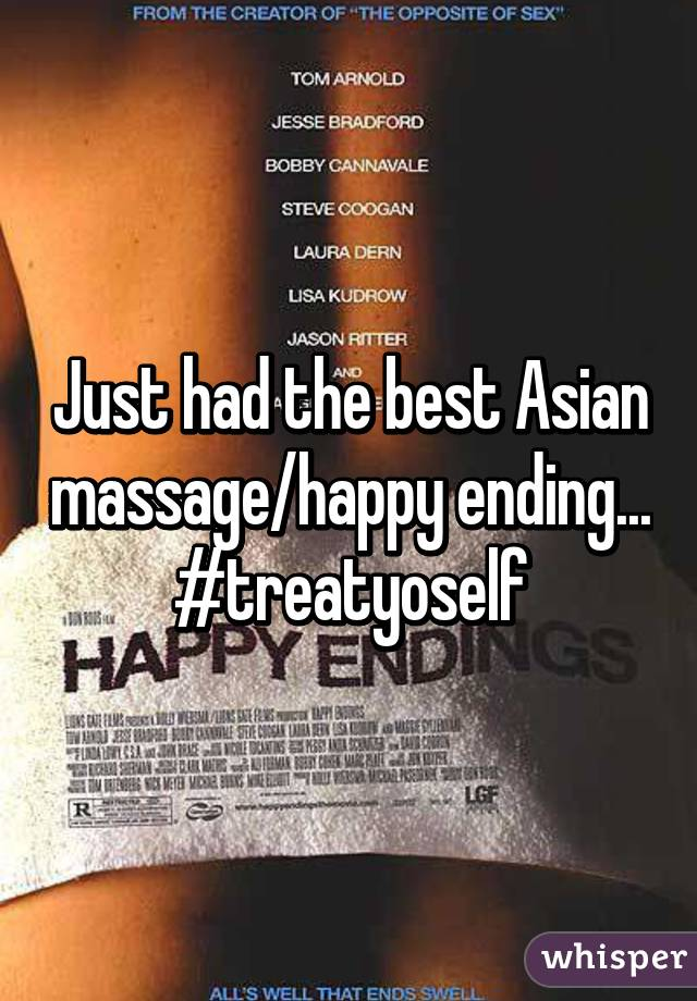 Asian massage happy endings