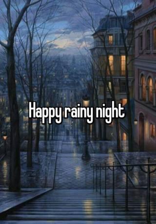 Rainy night status