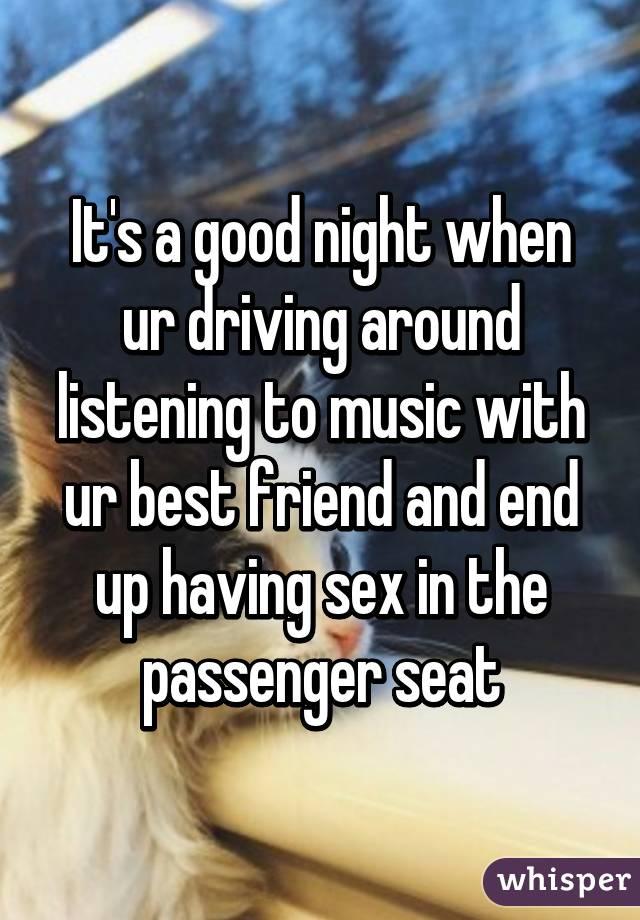 Having sex to music