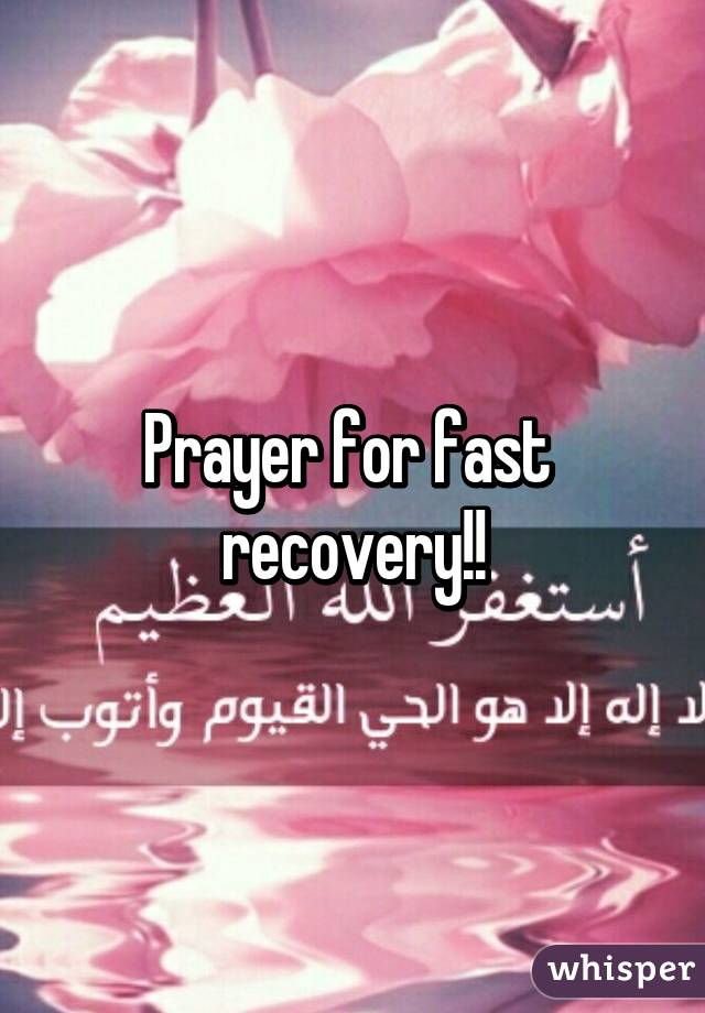 prayer for fast recovery