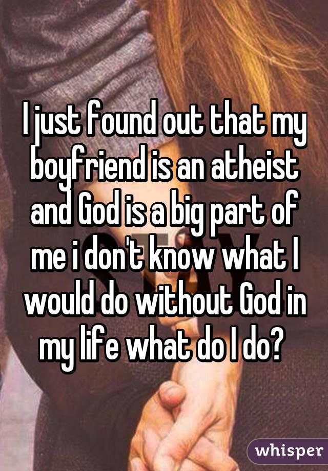 Atheist boyfriend