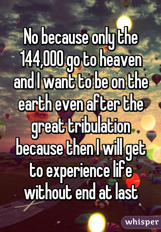 144000 going to heaven