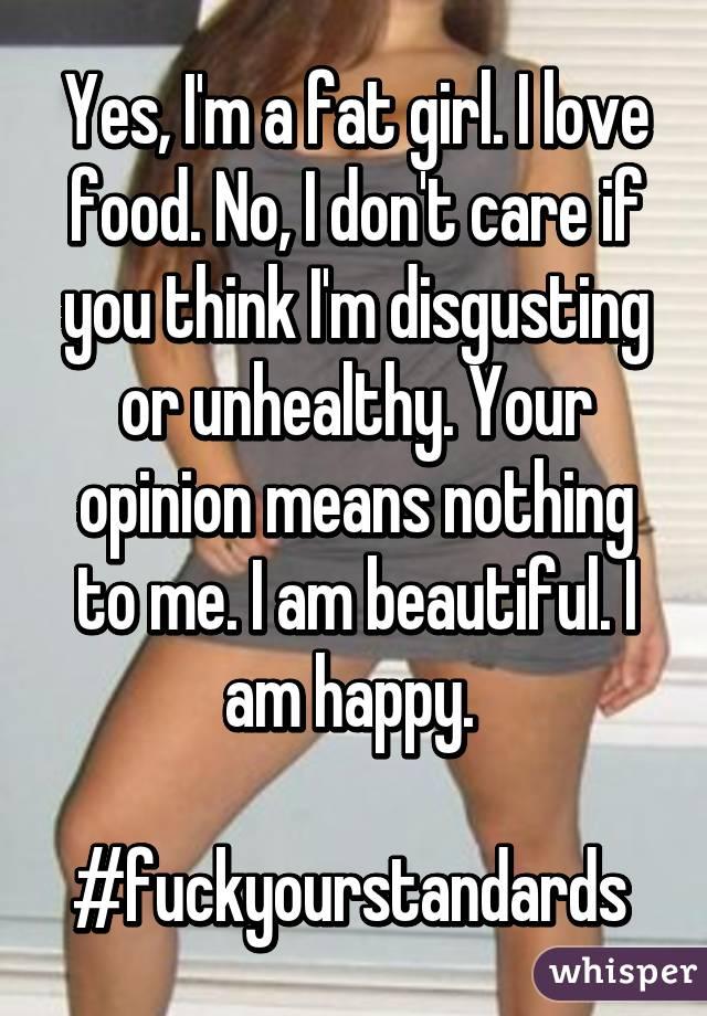 You Think Im Fat