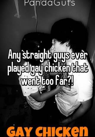 Straight guys gay chicken congratulate, seems