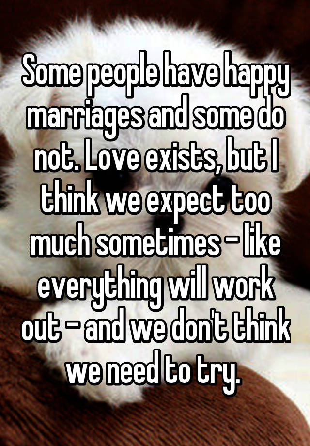 does love exist in marriage an