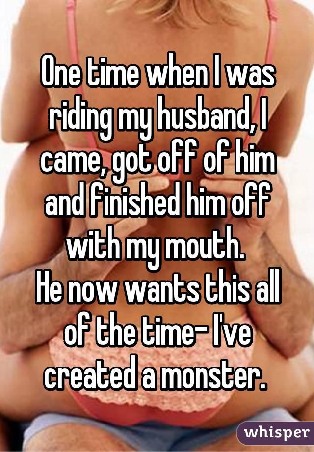 Riding husband