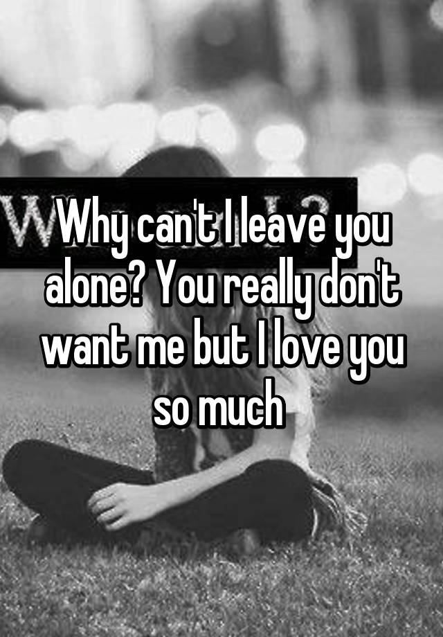 i love you alone