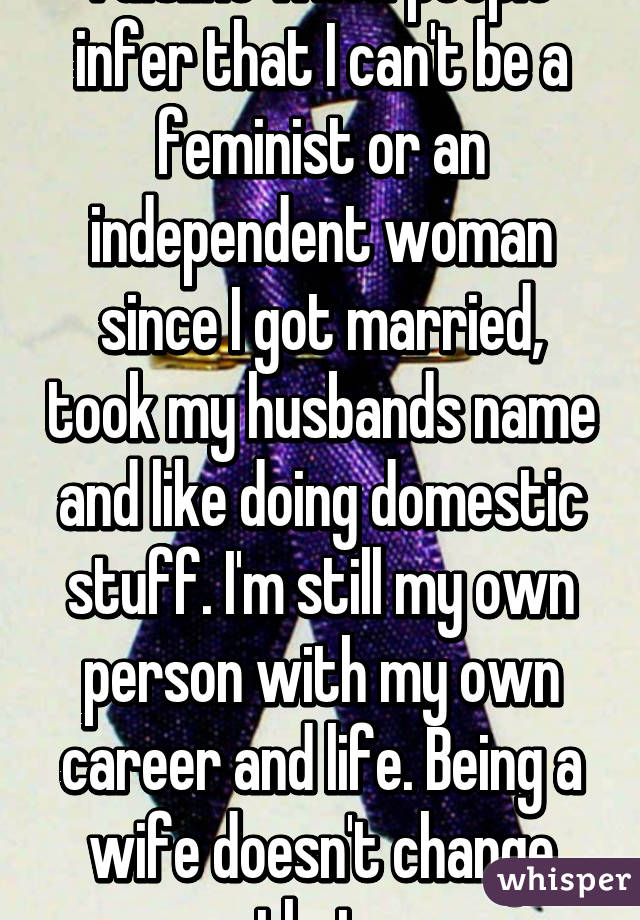 Can a married woman be independent
