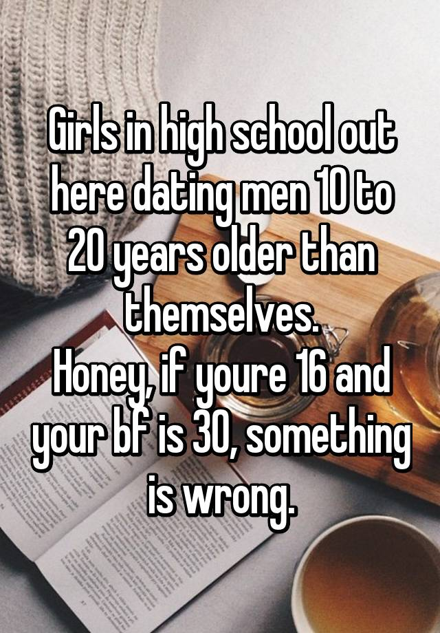Dating a man 30 years older than your boyfriend