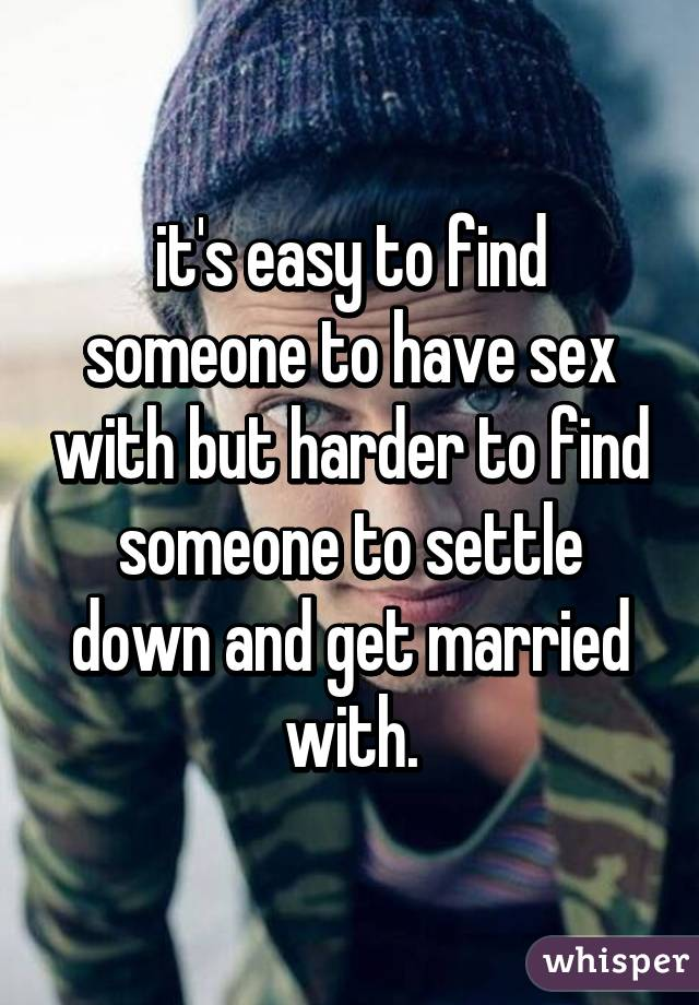 Find someone for sex