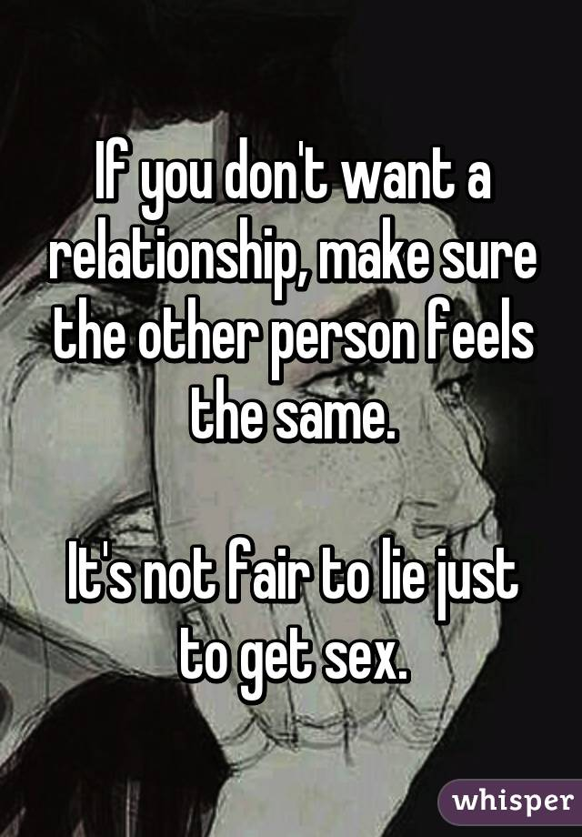 not getting what you want in a relationship