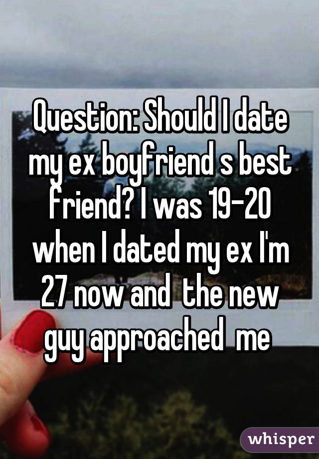 I see youre dating my ex