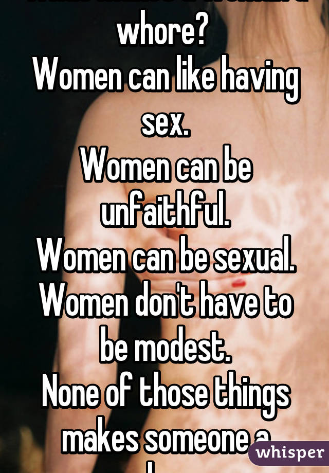 What makes a person a slut