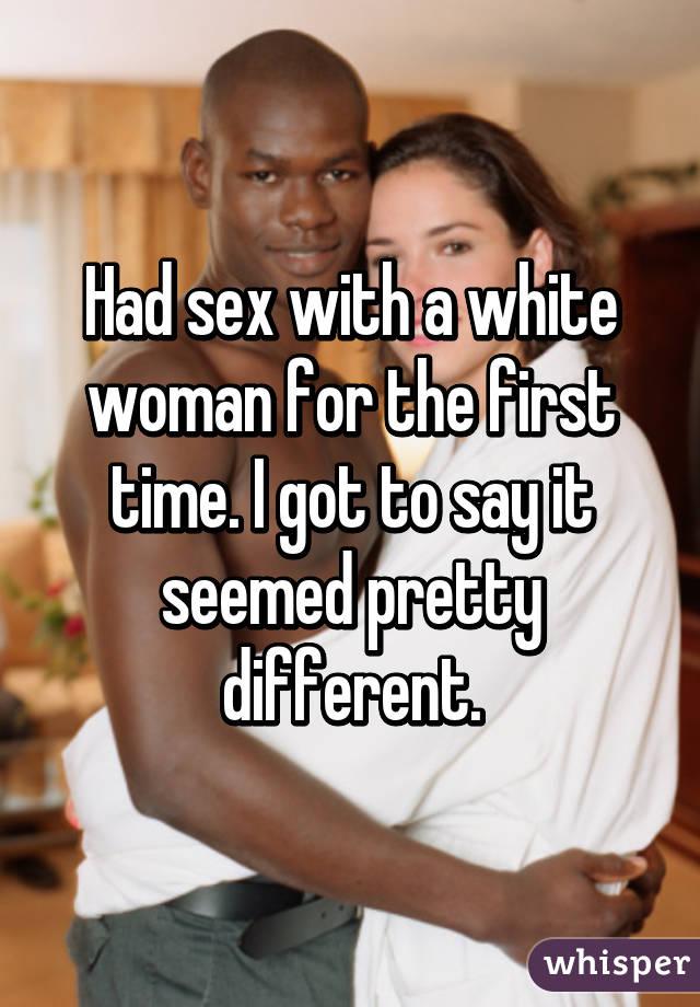 Black women white man first time Talk about