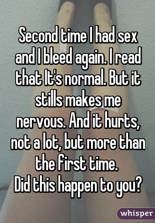 is it normal to bleed the first time have sex
