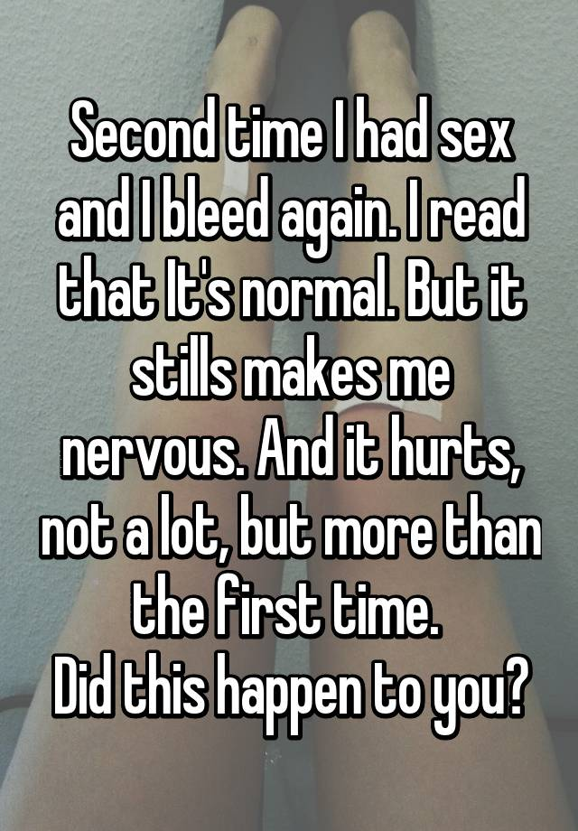 Does sex hurt the second time images 760