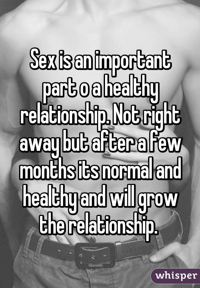 How important is sex to a healthy relationship