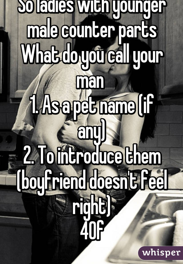 names to call your bf