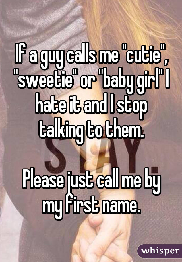 What Does It Mean If A Guy Calls You Cutie