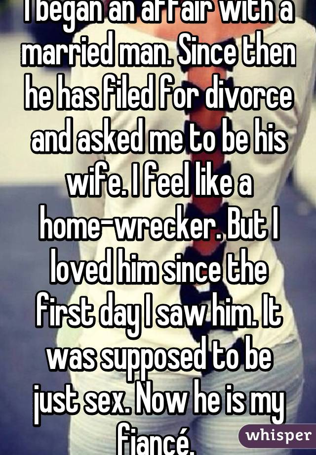Sex affair with a married man