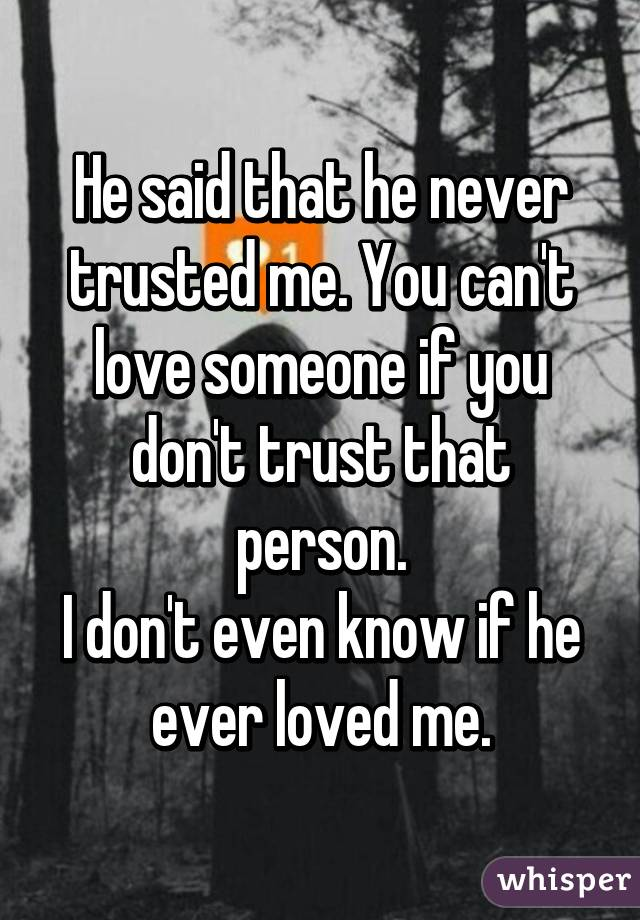 You trust someone you don be t should with LovePanky