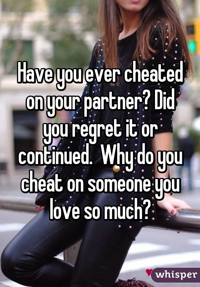 Husband Ever On Have Cheated You Your