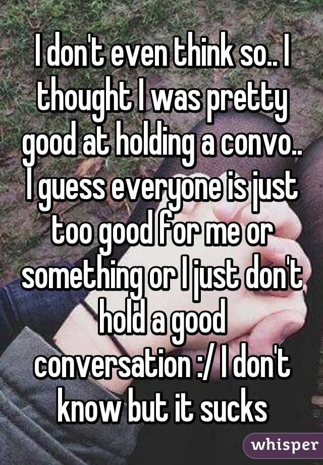 how to hold a good conversation