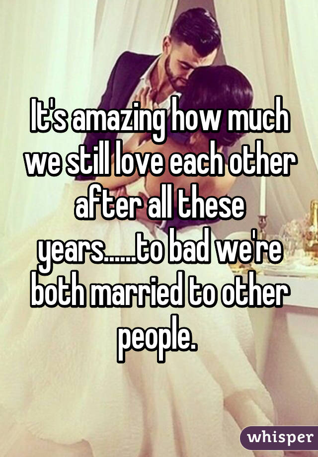 Both married but love each other