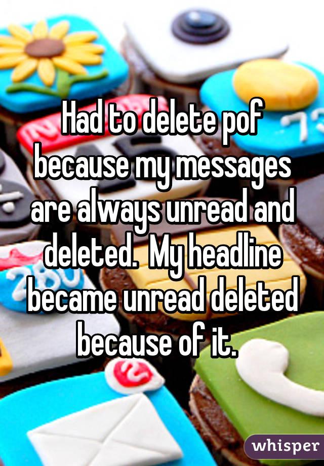 has been deleted pof