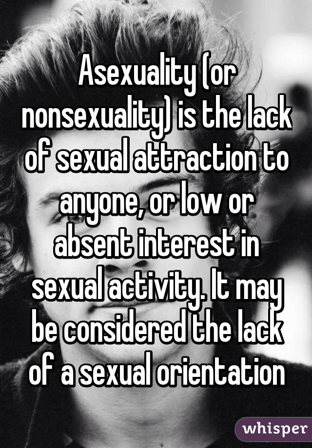 How Lack of sexual activity interesting. You