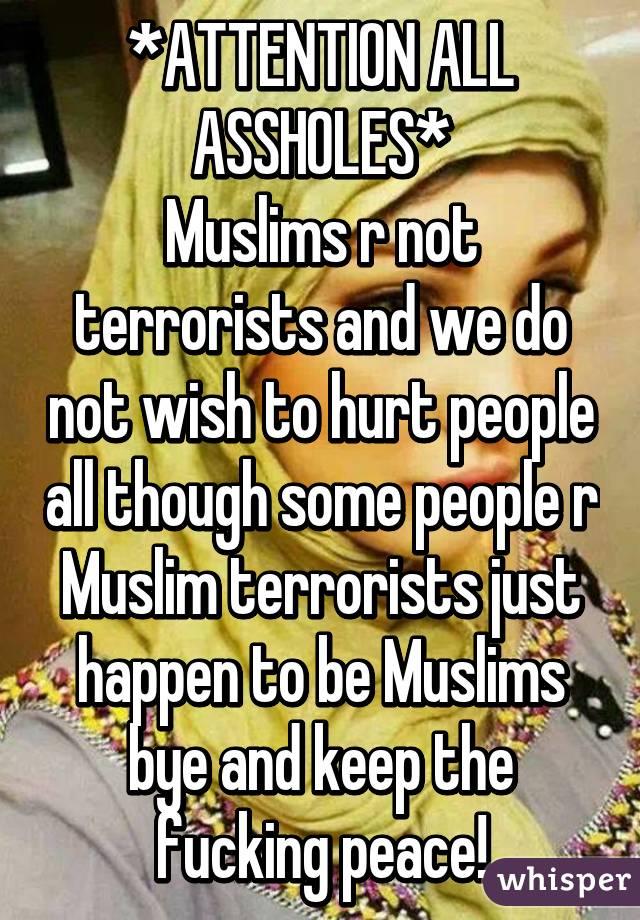 Muslim ass holes