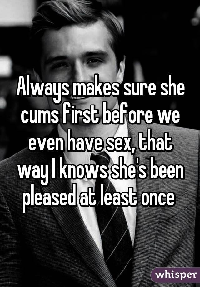 first always cums She
