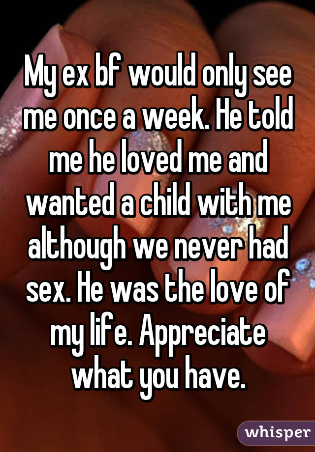 See my ex have sex