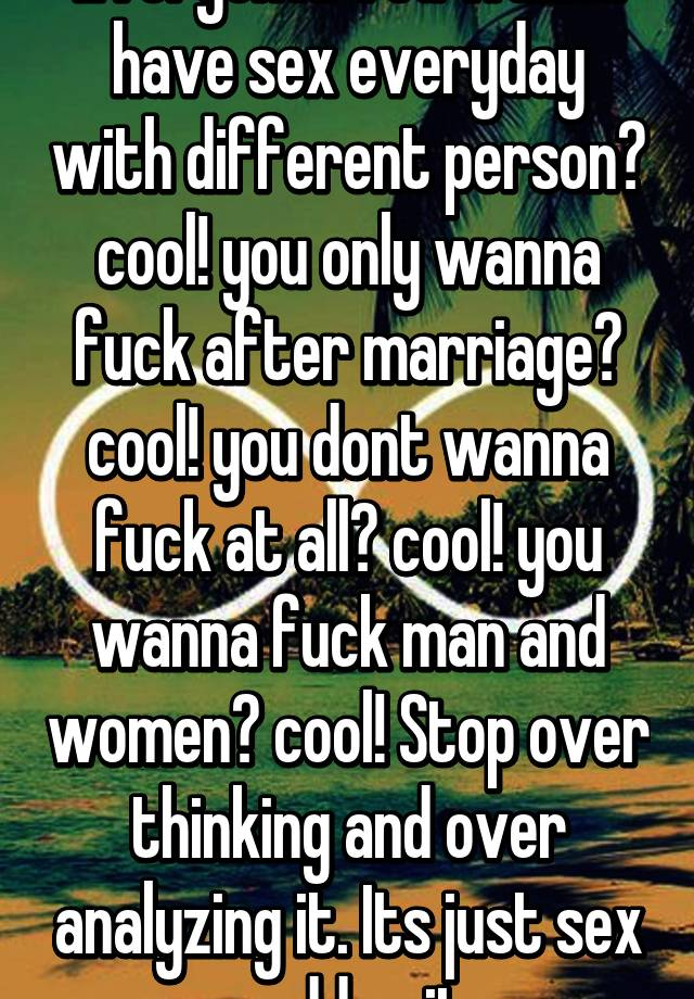 When a women doesnt wanna have sex