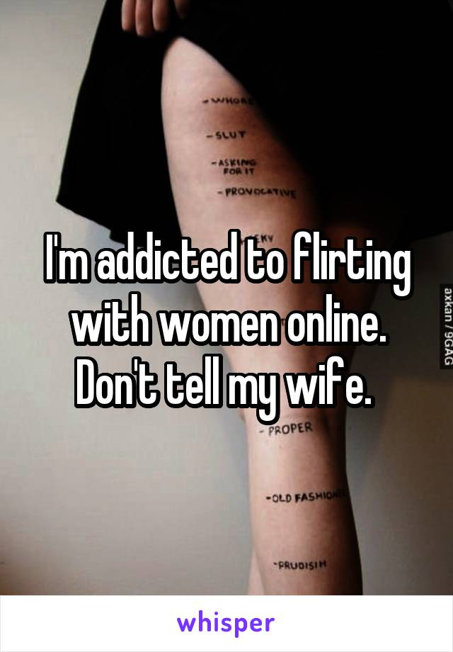 how to flirt with a woman online