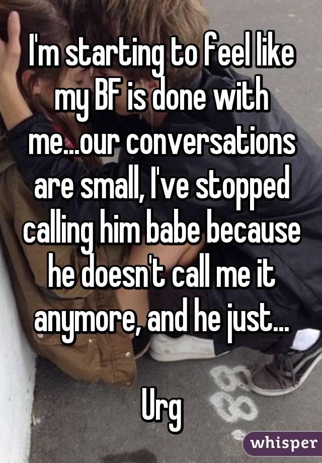 i stopped calling him