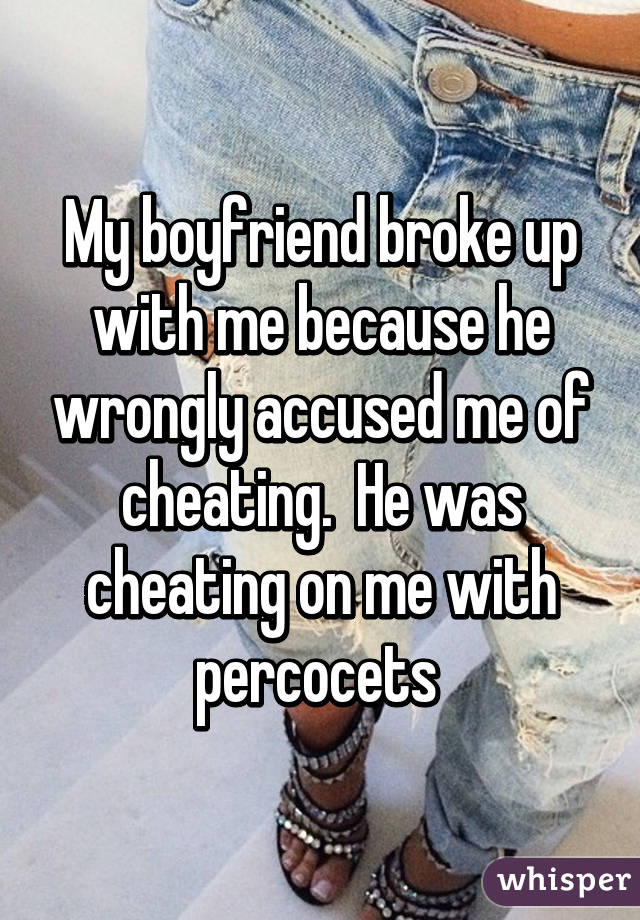 Wrongly accused boyfriend of cheating