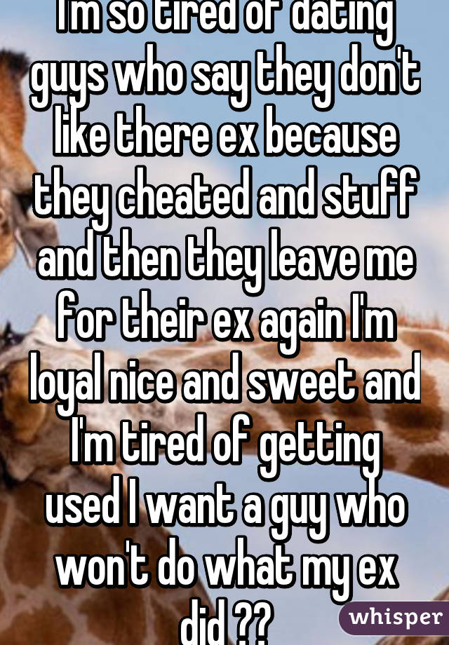 On Dating Cheated Someone Ex Who Their